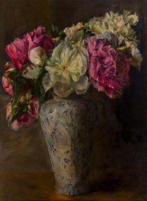 Flowers in Antique Vase