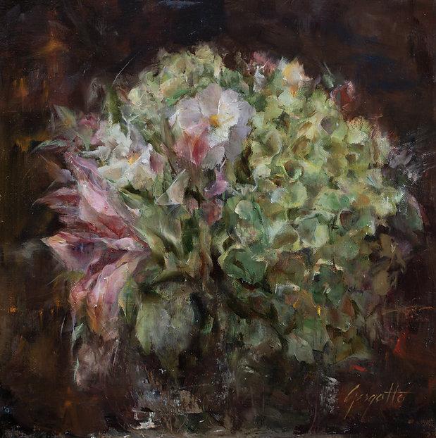 Gargotto_Ann_Full Bouquet_Oil_Linen on F