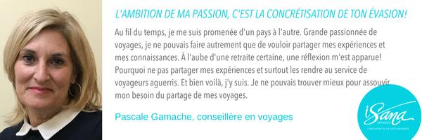 Pascale Gamache, Voyages Isana