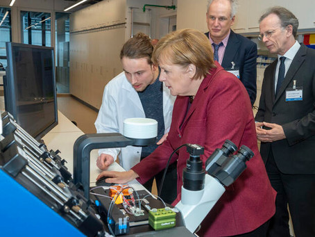 Chancellor Merkel backs new German research centre