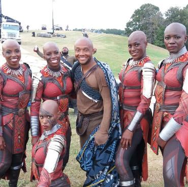On Set of Black Panther