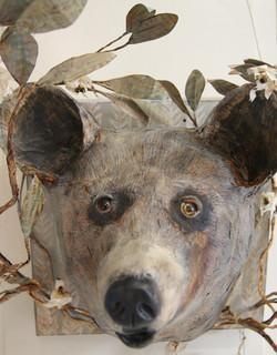 bear, papermaché