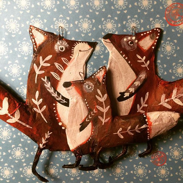 #papermache #fox ready to leave my #studio to the #heiligerbimbam