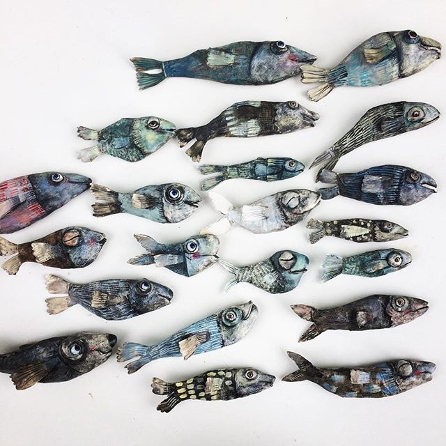happy fish family are travelling to Lucerne to _regulabrun in the gallery, starts at saturday 1
