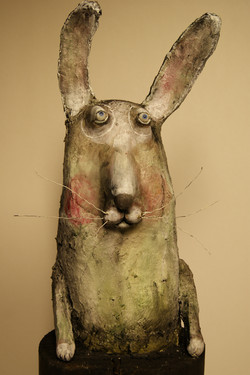hare papermaché pulp