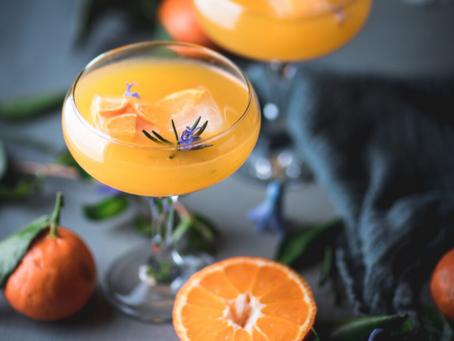 Tangerine Whiskey Sour w/ Wild Herb CBD