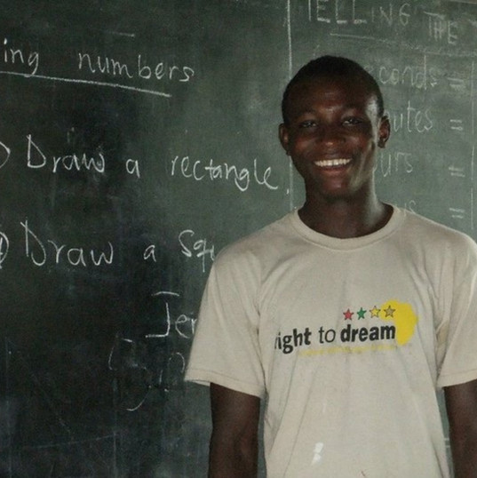Yaro in Ghana at the Right to Dream Academy