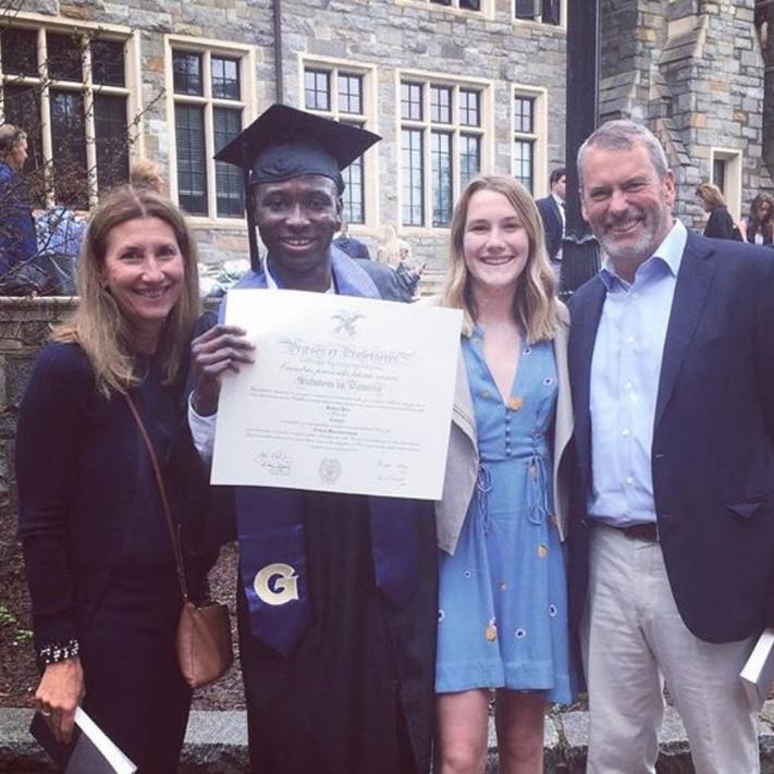 Georgetown Graduation - 2018 Yaro with the Weis'
