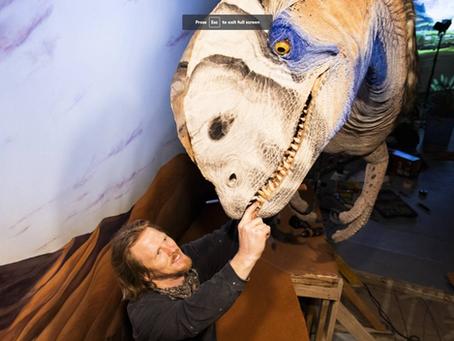 NEW DILOPHOSAURUS EXHIBIT AT NATURAL HISTORY MUSEUM