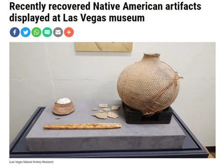 Recently recovered Native American artifacts displayed at Las Vegas museum