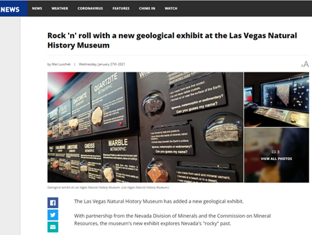 Rock 'n' roll with a new geological exhibit at the Las Vegas Natural History Museum
