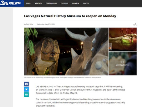 Las Vegas Natural History Museum to reopen on Monday