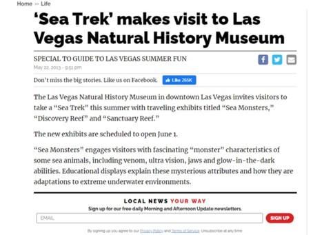 'Sea Trek' makes visit to Las Vegas Natural History Museum