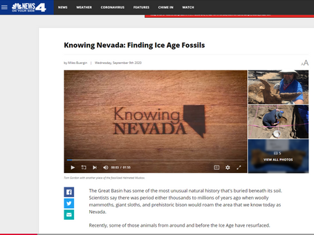 Knowing Nevada: Finding Ice Age Fossils