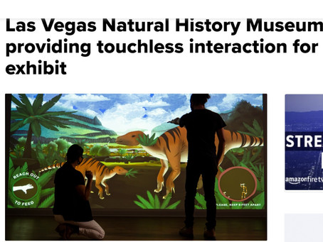 Las Vegas Natural History Museum providing touchless interaction for new exhibit