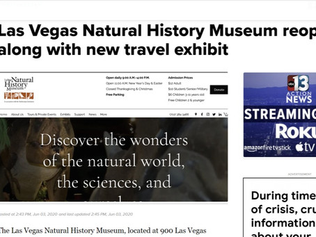 Las Vegas Natural History Museum reopens along with new travel exhibit