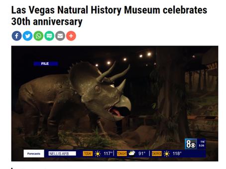 Las Vegas Natural History Museum celebrates 30th anniversary