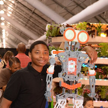 2019 Boy Poses with Robot
