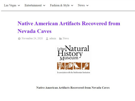 Native American Artifacts Recovered from Nevada Caves