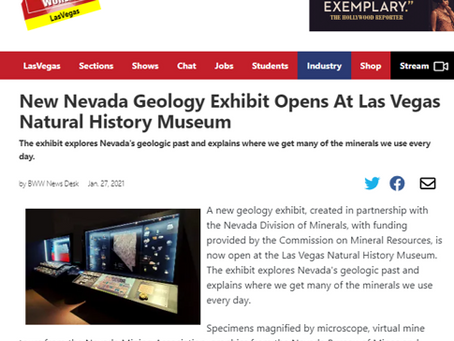 New Nevada Geology Exhibit Opens At Las Vegas Natural History Museum