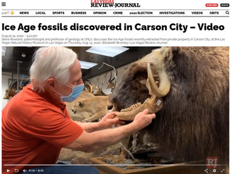 Ice Age fossils discovered in Carson City – Video