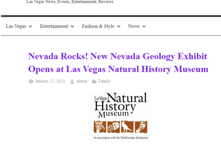 Nevada Rocks! New Nevada Geology Exhibit Opens at Las Vegas Natural History Museum