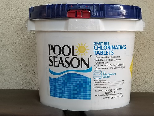 "25 pound Pool Season Chlorinating 3""Tabs"