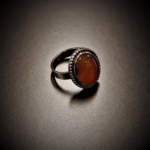 Banded Red Agate Ring