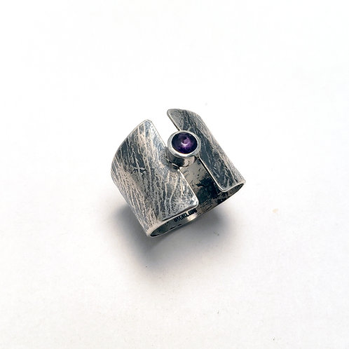 Rose-Cut Amethyst Ring