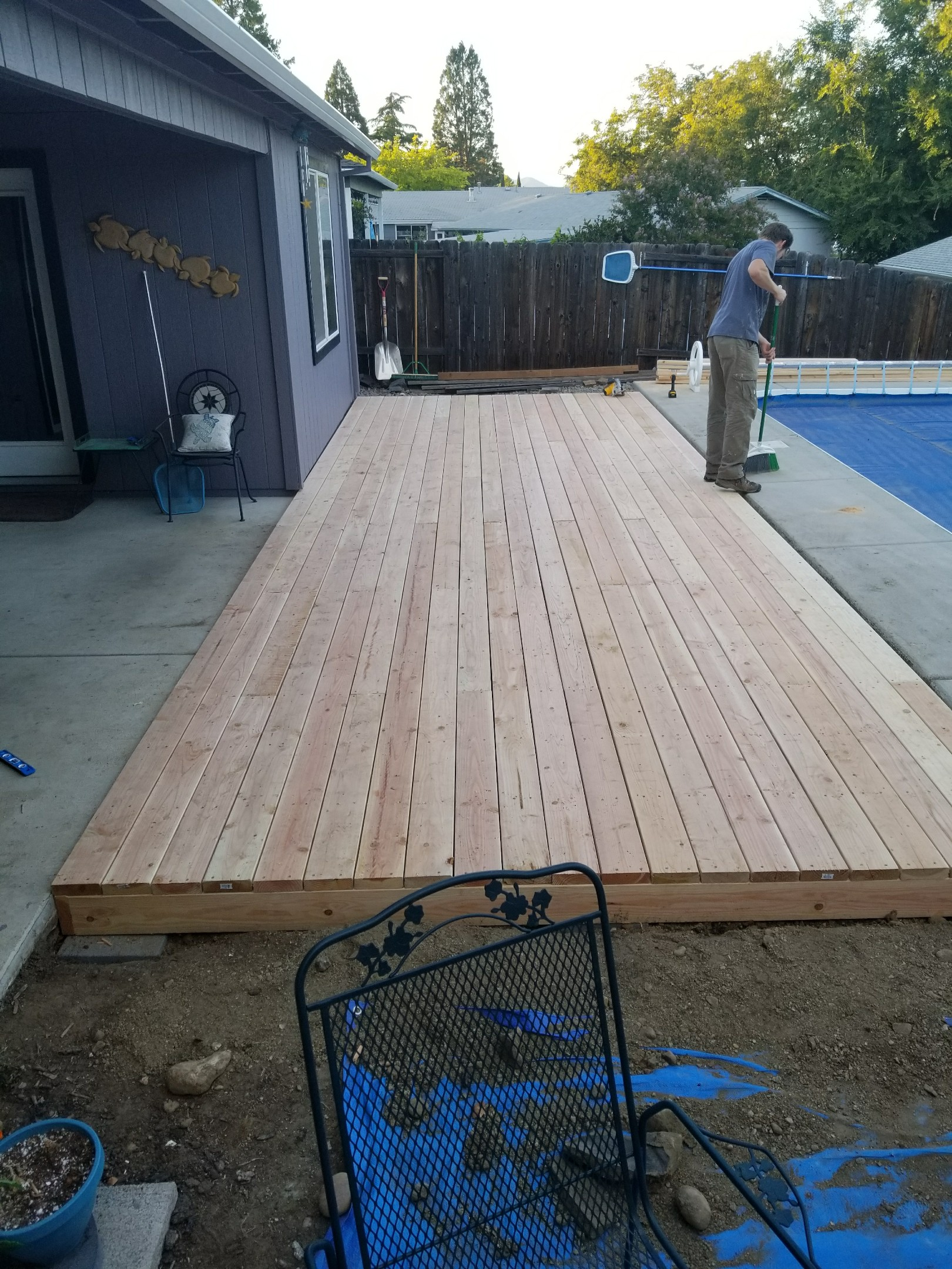 Finished Poolside Deck