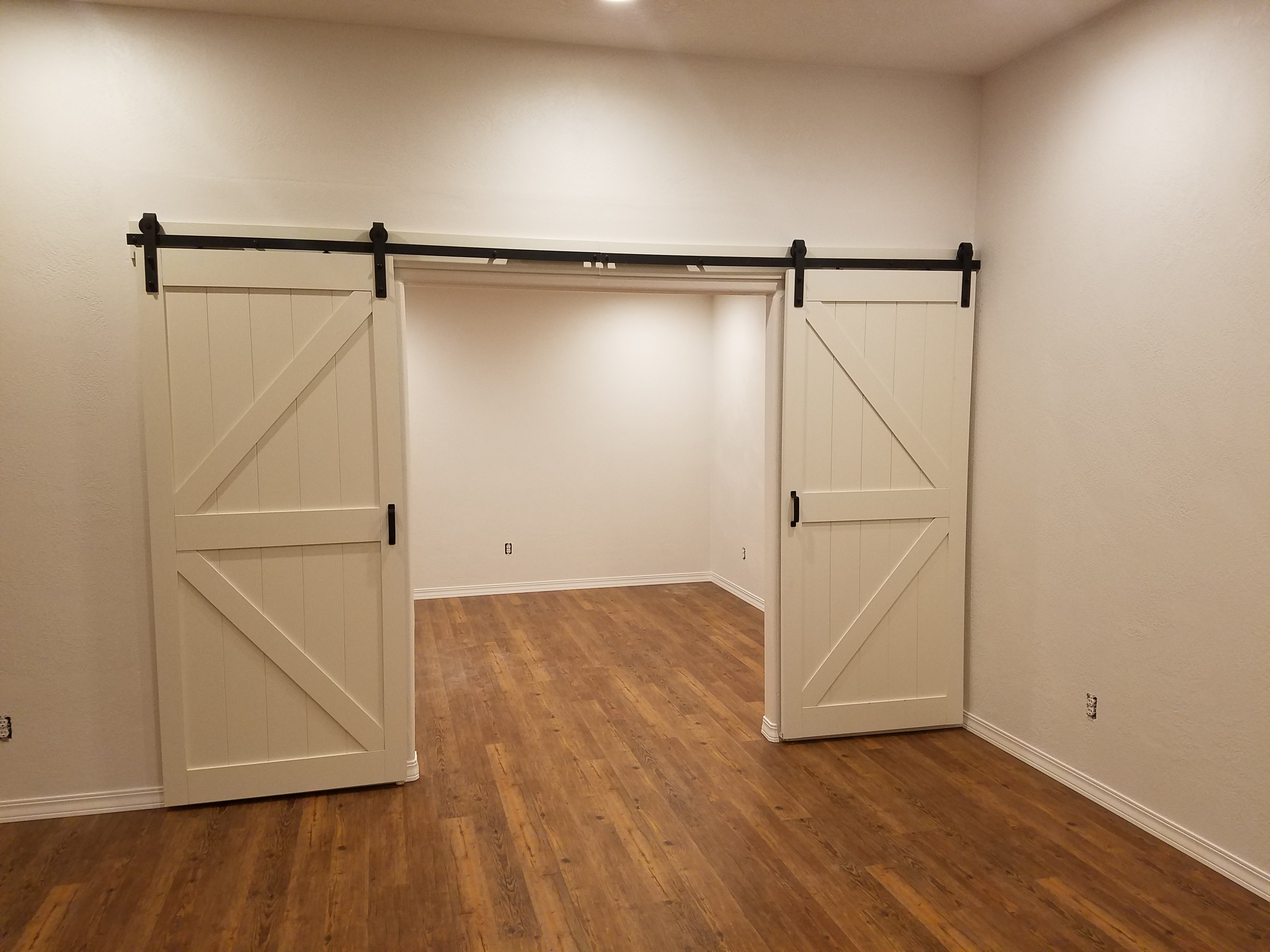 Opening of Finished Wall and Barn Doors