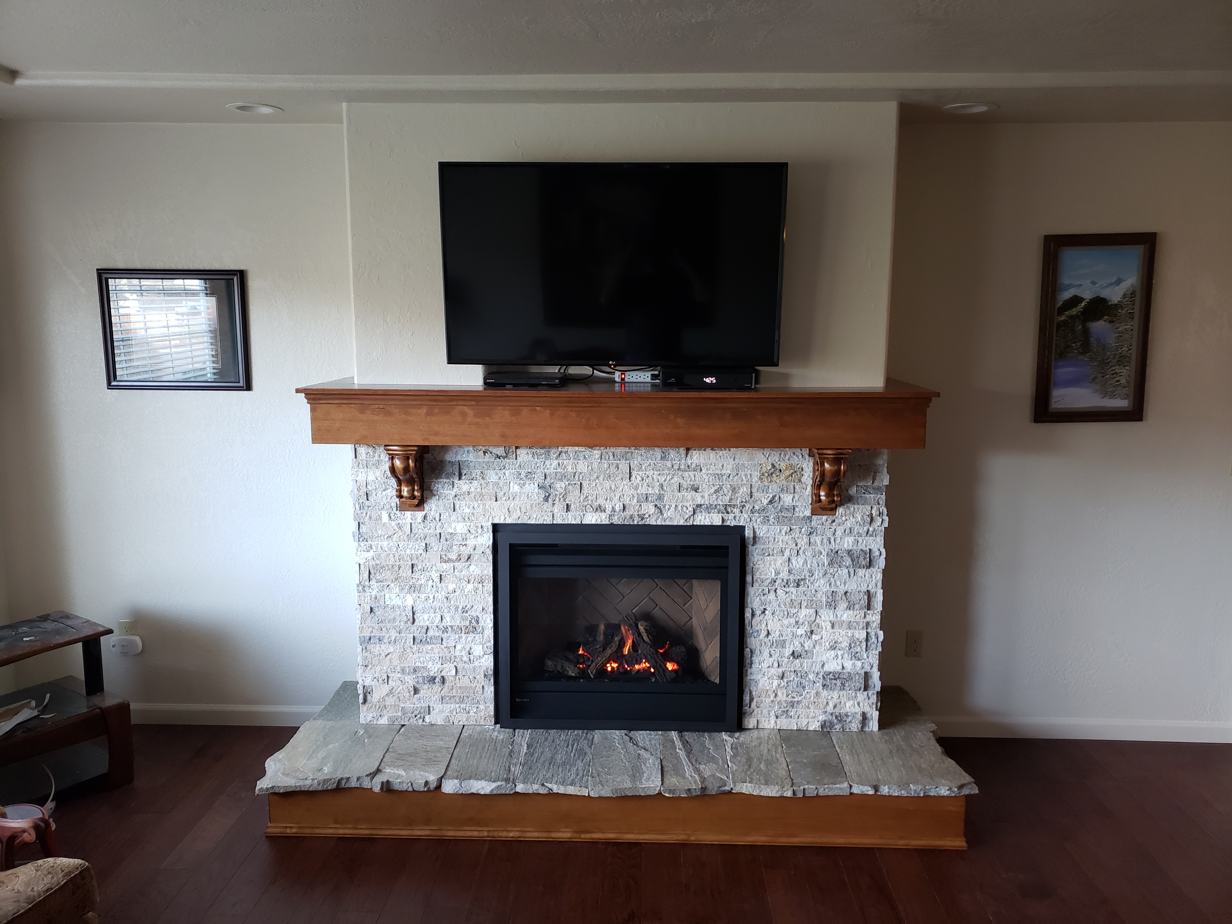 Finished Hearth and Mantel