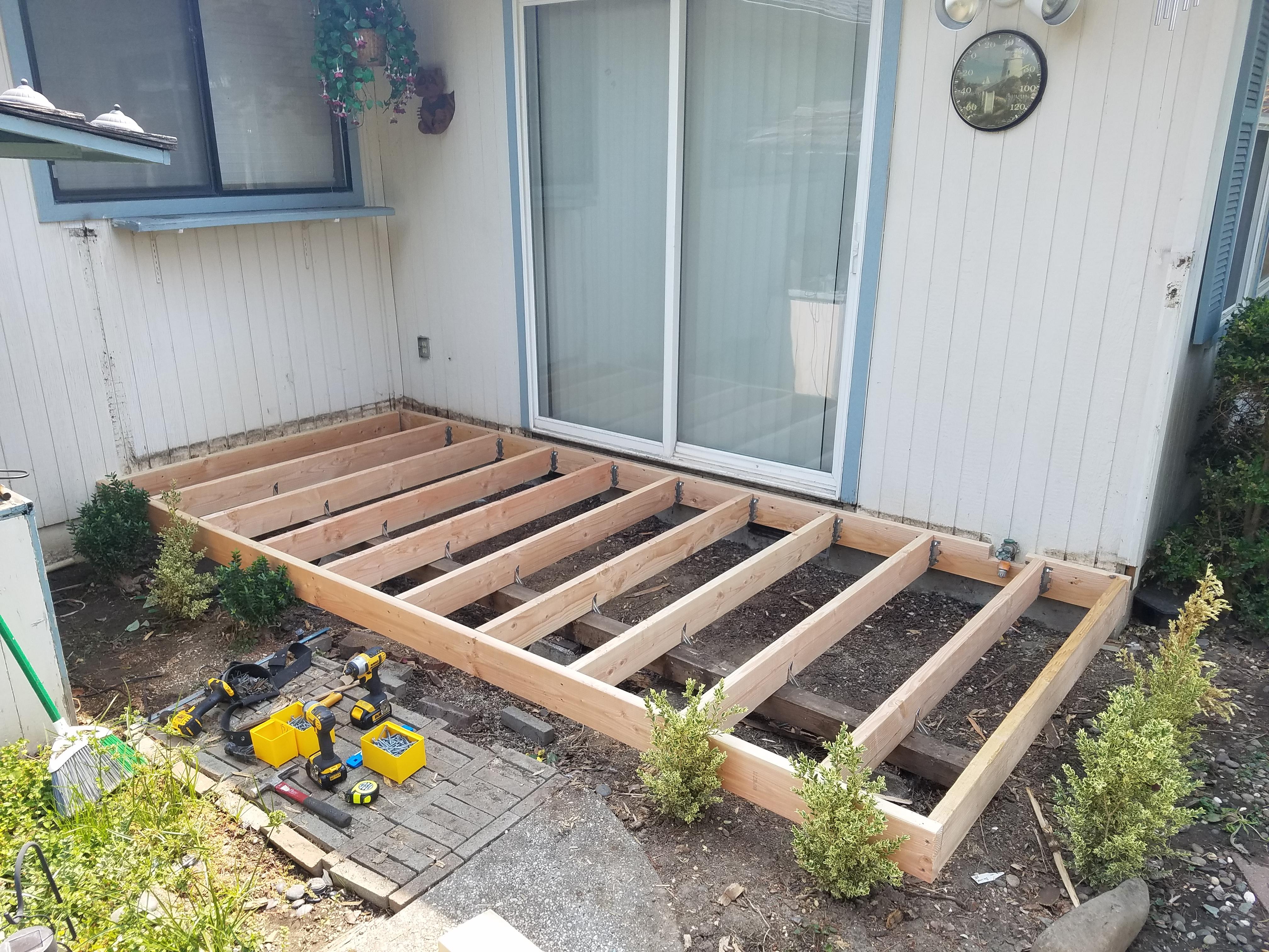 Deck rebuild start