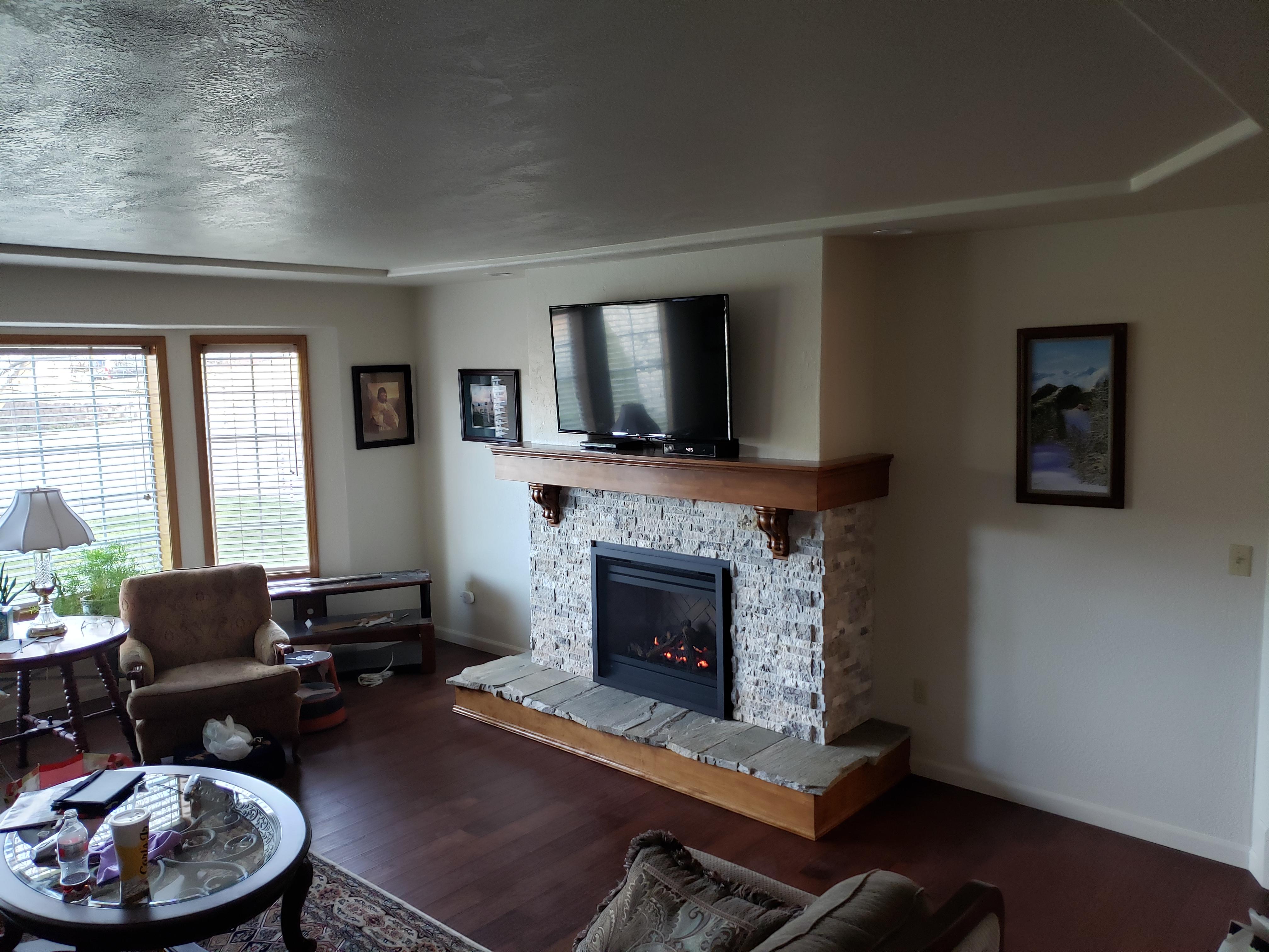Finished Custom Fireplace