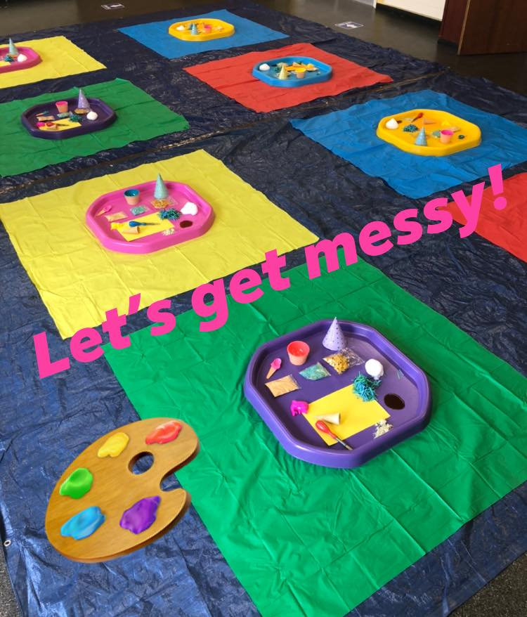 Messy Play 9th August 10:30 Shared Trays