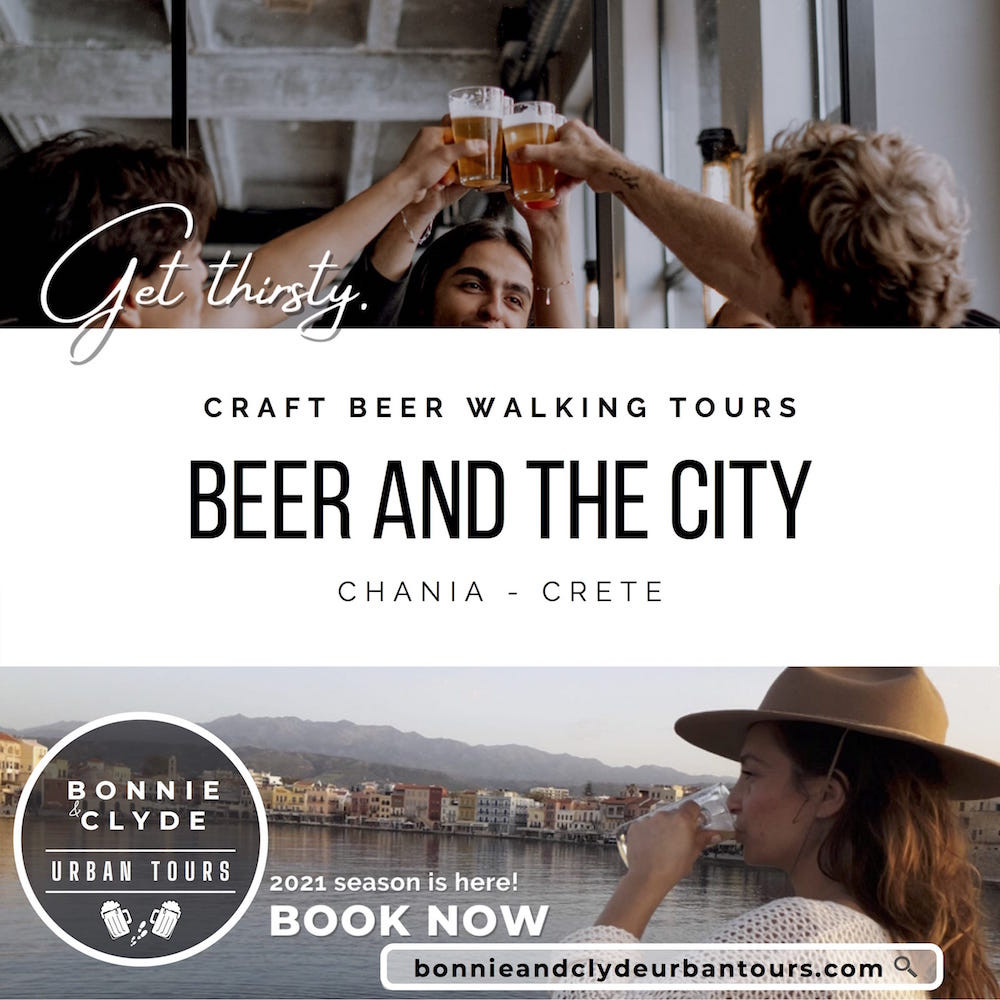 Beer and the City Chania Craft Beer tour walking crete