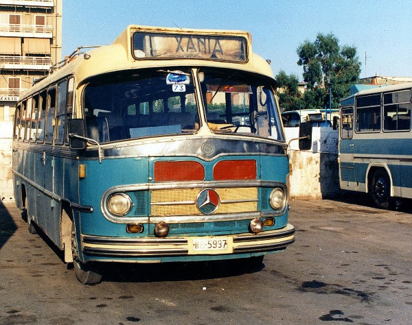 Chania old school cool bus
