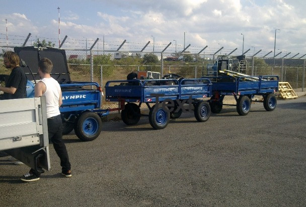 Chania airport wagons, Bonnie and Clyde Urban Tours