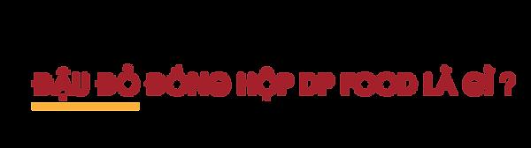 Dau-do-dong-hop-DP-Food-la-gi