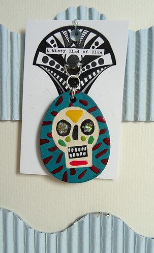 Sugar Skull Necklace Pendant 22