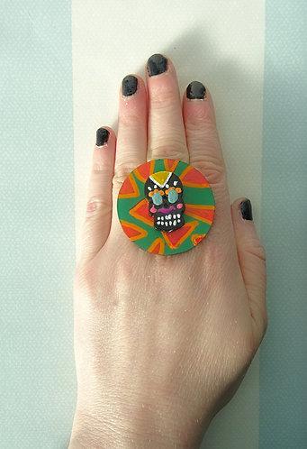 Sugar Skull Ring 13