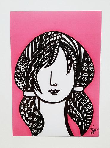 Art Card Hey Girls Retro 4 60's