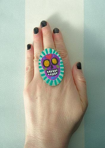 Sugar Skull Ring 1