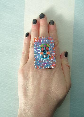 Sugar Skull Ring 15