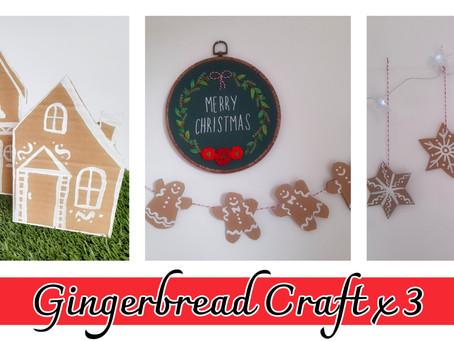 Gingerbread Cardboard Craft x3