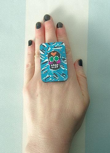 Sugar Skull Ring 14
