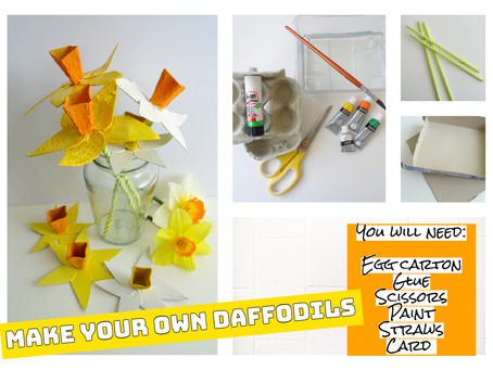 Egg Carton Daffodils!