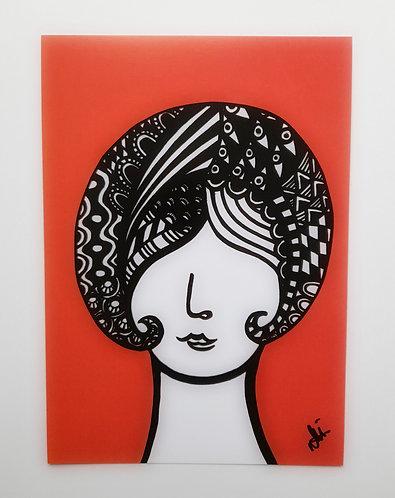 Art Card Hey Girls Retro 20 60's