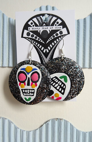Sugar Skull Earrings 1