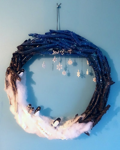 Oh Penguin Night! Wreath